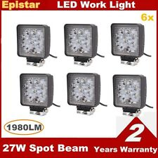 6X Square 27W LED Work Light High Power Spotlights for ATV Car Boat SUV Auto 12v
