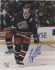 LUKE RICHARDSON COLUMBUS BLUEJACKETS SIGNED 8x10 PHOTO w/ COA