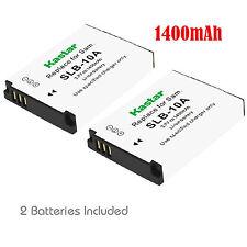 2x Kastar Battery for Samsung SLB-10A ES50 ES55 ES60 EX2F HMX-U10 U20 HZ10W 15W
