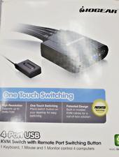 4-Port USB VGA KVM Cable Switch