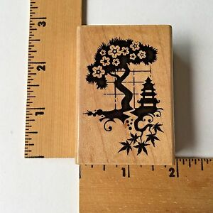 Inkadinkado Rubber Stamps - Asian Scene 99610LL-  NEW