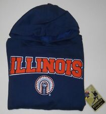 UNIVERSITY OF ILLINOIS REEBOK PULLOVER HOODED SWEATSHIRT YOUTH SZ L (14/16) NWT