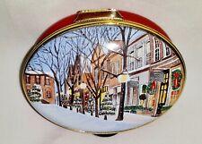 "New ListingStaffordshire Enamels, Anderson's~Nantucket ""Main Street, Xmas, 2010"", Le 29/100"