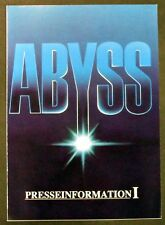Abyss-Abyss Of Death-James Cameron-Harris-Movie Press Book (y-7076+