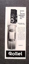 L018-Advertising Pubblicità-1962- ROLLEI , ROLLEICORD VB 6X6
