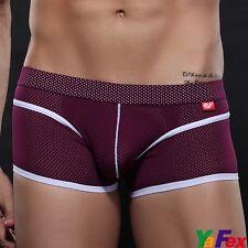Hot Men's Breathable Mesh Boxer Briefs Underwear Shorts Trunks Underpants Tanga