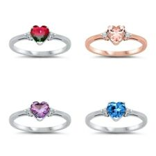 Sterling Silver 925 PRETTY HEART DESIGN PROMISE RINGS SIZES 3 to 13