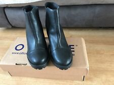 Womens OFFICE Black Synthetic Pull on Ankle BOOTS UK Size 6