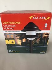 New 10 Piece Set Malibu Lighting 2 Tier Landscape Lights 8301-9204-01 Combo Kits
