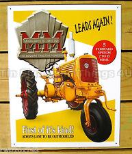 Minneapolis Moline YT TIN SIGN vtg tractor metal wall decor garage farming 1130