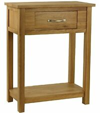 Woodvale Solid Oak 1 Drawer Single Console Table Fully Assembled