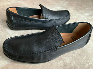 Clarks Hamilton 16326 Black Leather Driving Moccasins Loafers Shoes Sz 10M UK 9