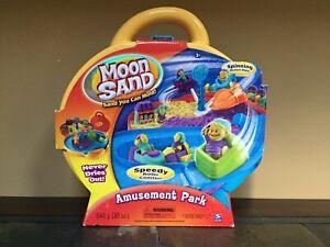 Moon Sand Amusement Park NIB includes Refills of 10oz each Yellow Green Purple