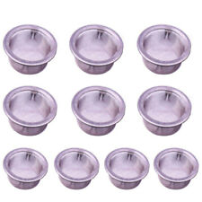 10PCS Cigarette Tip For Filter Crystal Smoking Pipe Stainless Steel  Accessories
