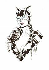 GUILLEM MARCH SIGNED 2019 CATWOMAN ORIGINAL ART-BATMAN, DC COMICS!