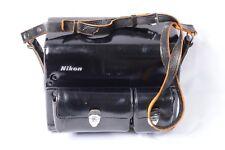 NIKON F F2 ERA BLACK LEATHER COMPARTMENT CASE & STRAP MODEL FB-5 WITH LENS PLATE