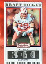 2019 JJ WATT 🔥DRAFT TICKET🔥 ((FOIL)) Panini Contenders #43 - WISCONSIN BADGERS