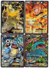 Blastoise + Charizard + PIKACHU + Venusaur EX XY121+122 124 FULL-ART Pokemon Set