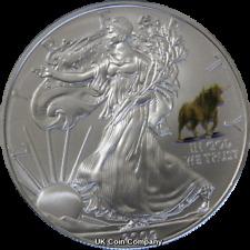 2009 American Eagle Liberty 1oz Silver $1 One Dollar Coin Bull Privy