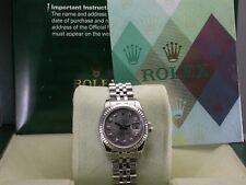 ROLEX 179174 DATEJUST SILVER DIAMOND DIAL STAINLESS STEEL LADIES WATCH Z SERIAL