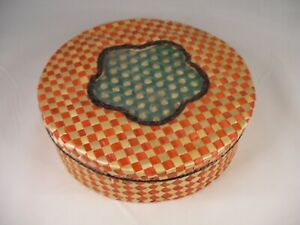 Vintage Woven Basket Containing 11 Hot Pads or Trivets