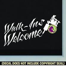 TATTOO WALK-INS WELCOME Vinyl Decal Sticker Shop Ink Machine Window Door Sign