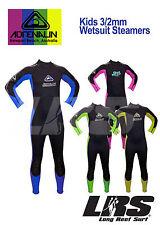 NEW Adrenalin Kids Steamer Wetsuit Long Sleeve & Leg 3/2mm Childrens Wet Suit