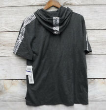 Ring of Fire Mens Size XL Grey Legendary Striped Hooded Slim Fit T Shirt New