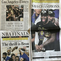 Lakers 2020 NBA Champions 10/12, 10/14 Los Angeles Times Newspapers Lebron James