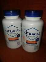 NEW Lot of 2 Citracal Plus D3 Petites Calcium Supplement 400 Capsules exp 3/18