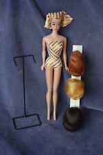 Vintage Fashion Queen Barbie - Turbo, Swim Suit, Stand and 3 wigs - All Original