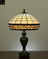 Winter Clearance Tiffany Diamond Stained Glass Art Deco Table Lamp Leadlight