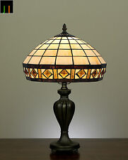 Free Postage Tiffany Diamond Stained Glass Table Lamps Light Home Decor