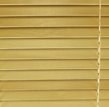 Real Wood Venetian Blind 75cm Wide (2ft 6in) Natural Finish