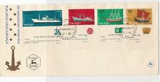 israel 1958 navy merchant & other boats ships anchor stamps cover ref 21504