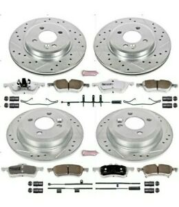 K5725-26 Powerstop Brake Disc and Pad Kits 4-Wheel Set Front & Rear Mini Cooper