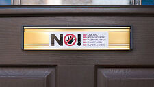 SKU004 - No Junk Mail - No Takeaway Menus - Front Door Letter Box Sign / Sticker