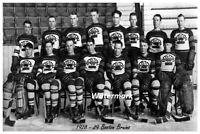 NHL 1928 - 29 Boston Bruins Team Picture Black & White 8 X 12 Photo Picture
