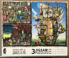 2010 CEACO IMAG*IN*A DREAM 3 Jigsaw Puzzles 100 PC Books 300 PC Roots 500 PC Ark
