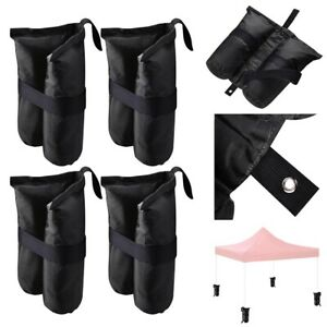 4 Pcs Weight Sand Bag w/ Grommet for Outdoor Pop Up Canopy Tent Gazebo Black