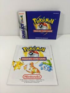 Nintendo Game Boy Color Pokemon Trading Card Game Instruction Booklet/Promo Only