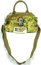 George Gina Lucy Miss Perfect Satchel Crossbody Handbag Paisley Green Beige Red