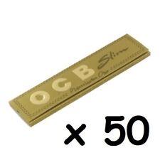 Lot de 50 paquets de feuilles OCB slim gold / or en vrac sans boite.