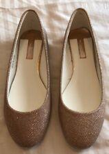 BNWT Dorothy Perkins Gold Glitter Ballerina Flat Shoes- Size 4