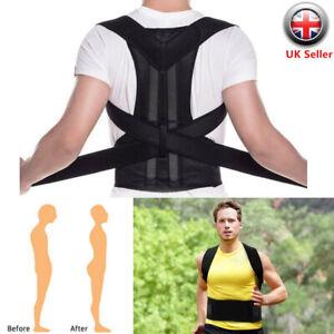 Women Men Posture Corrector Brace Full Back Support Clavicle Shoulder Belt Body