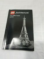 LEGO Architecture The Eiffel Tower 21019 Manual Only!