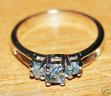 Natural Blue Raw Rough Diamond Ring uncut diamond 925 silver Engagement ring A78