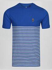 Luke 1977 Low Breton Mens Designer Short Sleeve Crew Neck Stripe T-Shirt