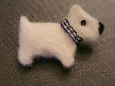 WESTIE BROOCH Dog West Highland Terrier Needle Felted   ~ Hand Made