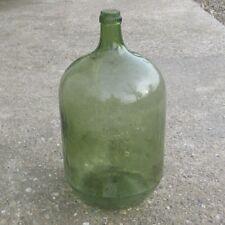 "Old French GreenGlass Demijohn ""Bonbonne"" Wine Bottle, 10 Liters, 2 1/2 Gallons"